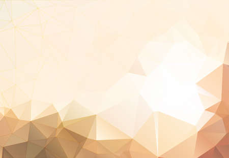 Flesh color abstract background polygon Illustration