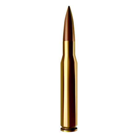 bullet vector realistic illustration on white isolated background