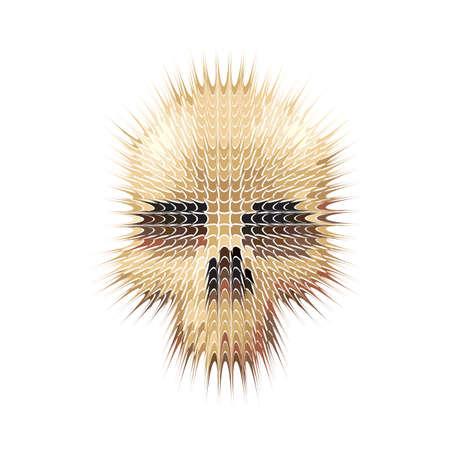 studded skull vector