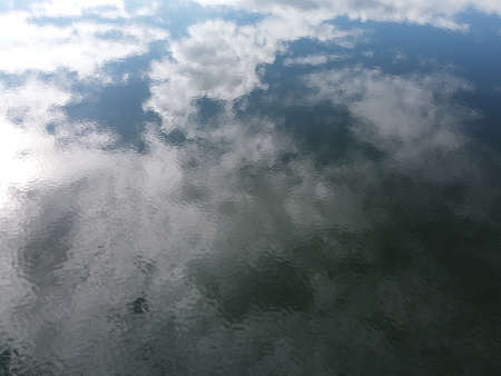 water surface from above, aerial photo