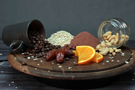 natural ingredients for a healthy and balanced diet. Recommended foods for adequate nutrition. Vegan nutrition Stock fotó