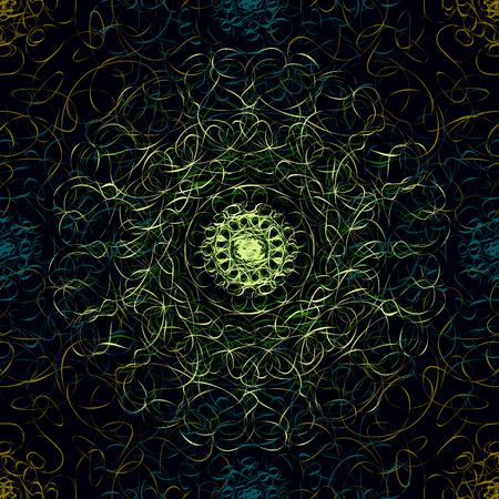 plexus: Gothic floral seamless pattern with elements of the plexus. Illustration