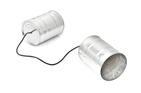 Tin Can Phone. Communication concept