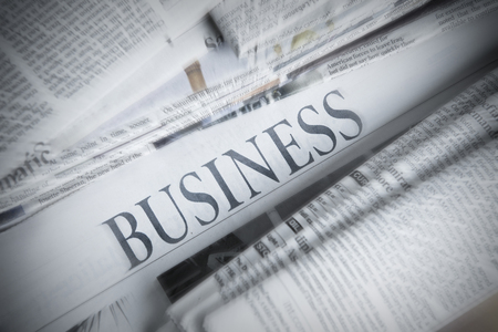 wealth concept: Business Newspaper