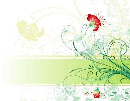 Abstract grunge paint flower background, element for design, vector illustration Stock Illustration - 1229764