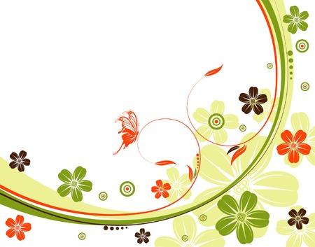 Flower background with wave pattern, element for design, vector illustration Stock Vector - 3424444