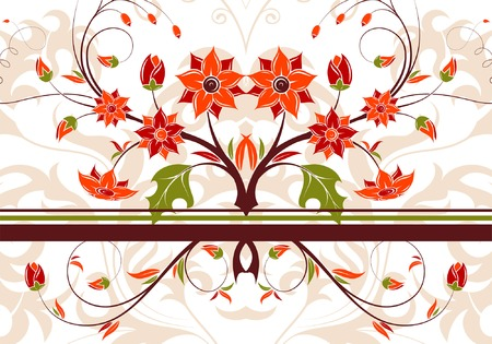 Abstract floral background with stripes, element for design, vector illustration Stock Vector - 4450543