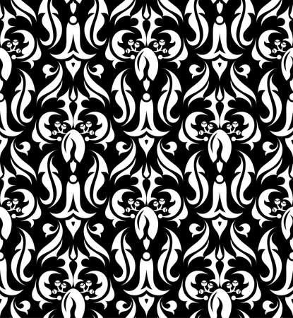 filigree: Bloemen naadloze patroon element voor ontwerp
