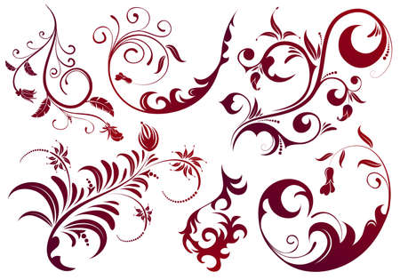 scroll design: Collect Floral scroll, element for design