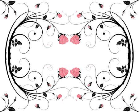 Floral Frame with rose for design Vector