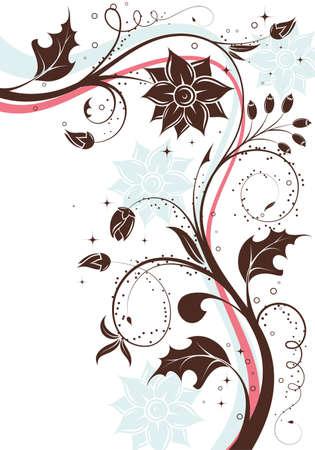 Floral Background with Wellenmuster, Element für Design, illustration