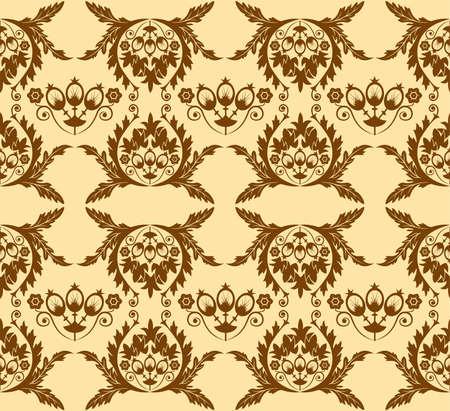Floral seamless pattern, element for design, illustration Vector