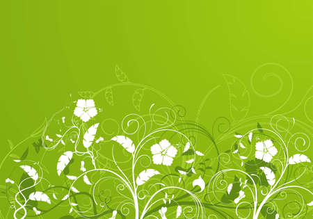 Flower background with bud, element for design, illustration Vector