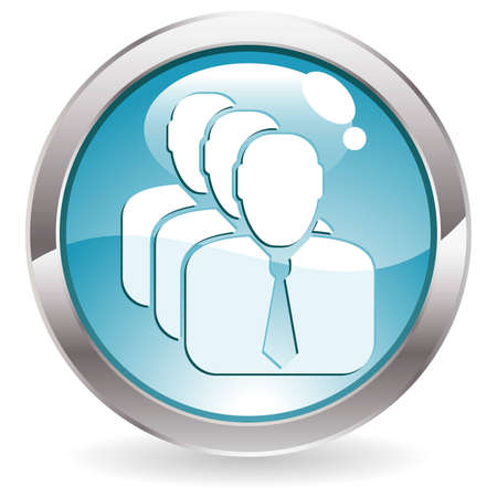 three dimensional: Three Dimensional circle button with Business Man icon,  illustration