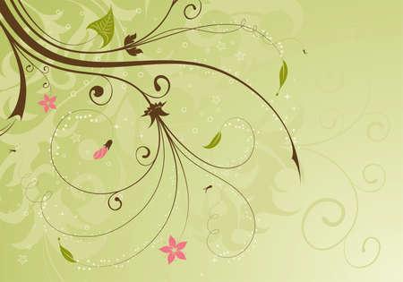 Floral Background with bud, element for design, illustration Vector