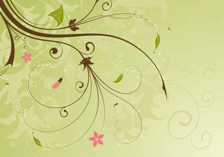 the brown: Floral Background with bud, element for design, illustration Illustration