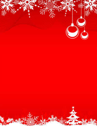 Christmas background with tree, bell and decoration element,   illustration Vector