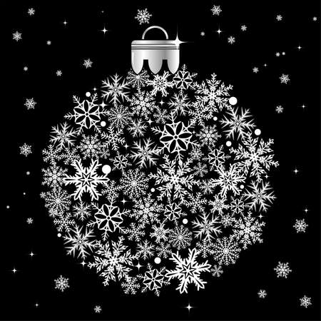 Christmas stylized bauble, element for design Stock Vector - 8346329