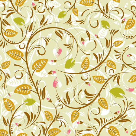 Flower seamless pattern with bud, element for design Stock Vector - 8346335