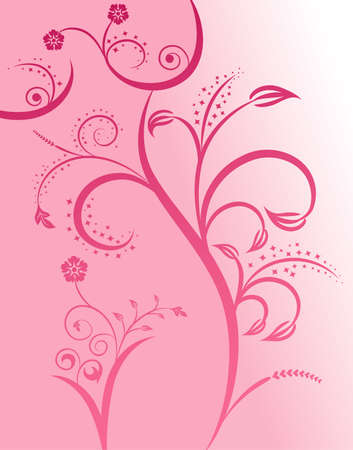 Floral silhouette sexy girl, element for design,  illustration Vector