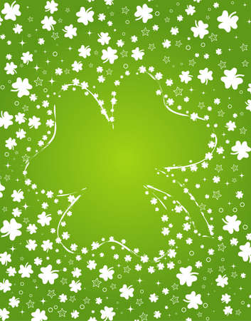 St. Patricks background with clover, element for design, vector illustration Vector