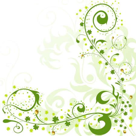 St. Patrick Day floral frame, element for design, vector illustration Stock Vector - 8898586