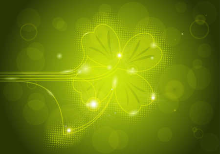 St. Patrick's background with clover, element for design, vector illustration Stock Vector - 8919826