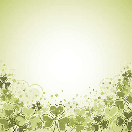 St. Patrick Day frame with clover leaf, vector illustration Stock Vector - 8919815