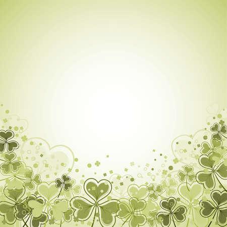 st patrick day: St. Patrick Day frame with clover leaf, vector illustration Illustration