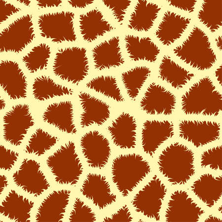 Seamless tiling animal print giraffe, vector illustration Stock Vector - 8985556