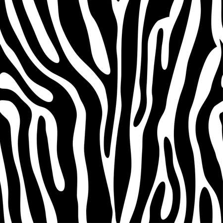 Seamless tiling animal print zebra, vector illustration Vector