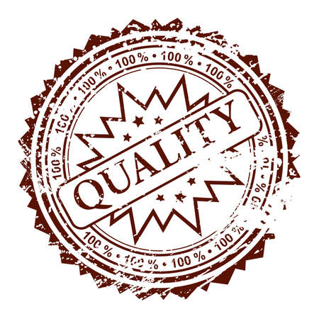 percentage: Grunge stamp 100% quality, element for design, vector illustration Illustration