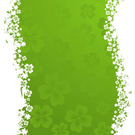 st  patrick: St. Patrick Day grunge frame with wave pattern, vector illustration