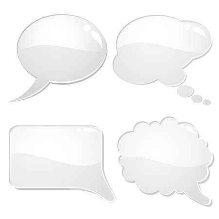 Set of speech and thought bubbles, element for design, vector illustration Stock Vector - 9069822