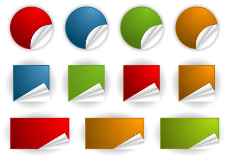 Collect Sticker, element for design, vector illustration Stock Vector - 9069820