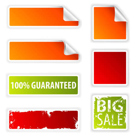 Collect Sticker, element for design, vector illustration Stock Vector - 9106622