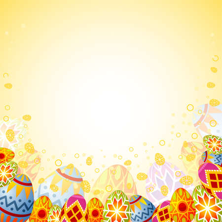 paschal: Easter frame with eggs, element for design, vector illustration