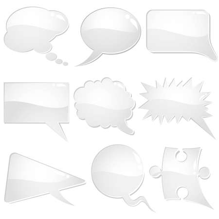 Set of speech and thought bubbles, element for design, vector illustration Stock Vector - 9250745