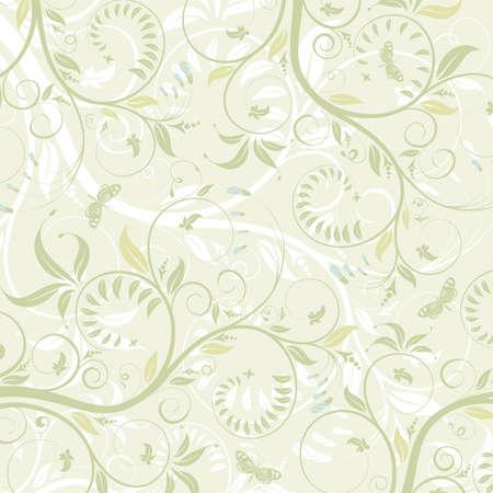 Textura de flor con mariposa, elemento de diseño, ilustración vectorial