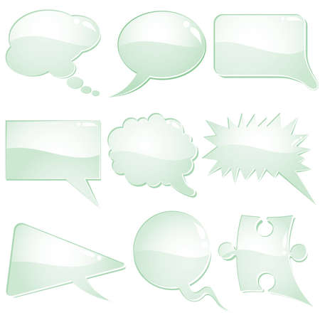 Set of speech and thought bubbles, element for design, vector illustration Vector
