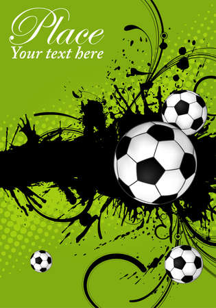 Soccer ball on grunge background, element for design, vector illustration Vector