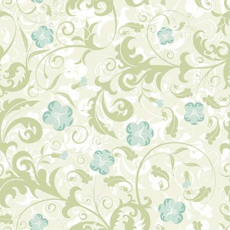 Flower seamless pattern with bud, element for design, vector illustration Illustration