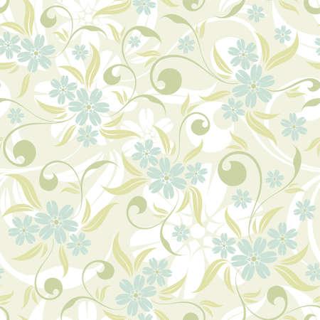 Flower seamless pattern with leaf, element for design, vector illustration Vector