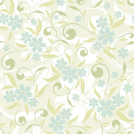 gentle: Flower seamless pattern with leaf, element for design, vector illustration