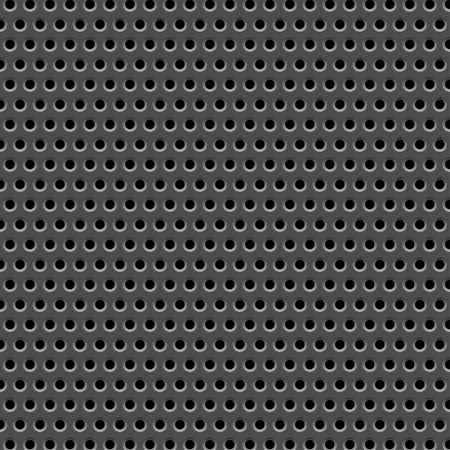 lamiera metallica: Metall piastra con foro, elemento di design, illustrazione vettoriale