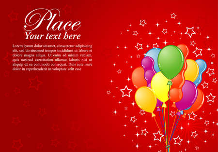 Birthday Background with Balloon and Star, element for design Vector