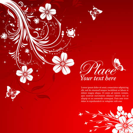 element for design: Floral Background with butterfly, element for design Illustration