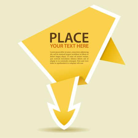 Paper Origami pijl, element voor ontwerp, vectorillustratie
