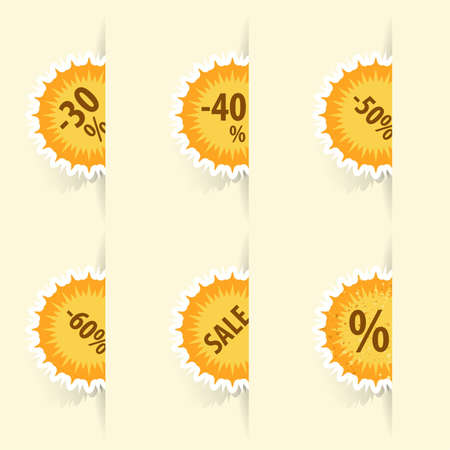 offer icon: Collect Sticker, element for design, vector illustration