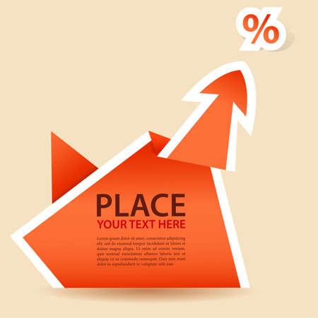Paper Origami Arrow  Vector